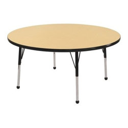 ECR4KIDS Maple Round Adjustable Activity Table - 36 in. - About Early Childhood ResourcesEarly Childhood Resources is a wholesale manufacturer of early childhood and educational products. It is committed to developing and distributing only the highest-quality products ensuring that these products represent the maximum value in the marketplace. Combining its responsibility to the community and its desire to be environmentally conscious Early Childhood Resources has eliminated almost all of its cardboard waste by implementing commercial Cardboard Shredding equipment in its facilities. You can be assured of maximum value with Early Childhood Resources.