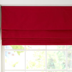 Twill Roman Shade - This is good bit of red for the window. I like the extra texture the twill adds.