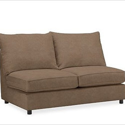 PB Comfort Roll Arm Upholstered SectionalArmless Loveseat Knife-EdgeUpholsteredE - Built by our own master upholsterers in the heart of North Carolina, our PB Comfort Upholstered Sectional Components are designed for unparalleled comfort with deep seats and three layers of padding. {{link path='pages/popups/PB-FG-Comfort-Roll-Arm-4.html' class='popup' width='720' height='800'}}View the dimension diagram for more information{{/link}}. {{link path='pages/popups/PB-FG-Comfort-Roll-Arm-6.html' class='popup' width='720' height='800'}}The fit & measuring guide should be read prior to placing your order{{/link}}. Choose polyester wrapped cushions for a tailored and neat look, or down-blend for a casual and relaxed look. Choice of knife-edged or box-style back cushions. Proudly made in America, {{link path='/stylehouse/videos/videos/pbq_v36_rel.html?cm_sp=Video_PIP-_-PBQUALITY-_-SUTTER_STREET' class='popup' width='950' height='300'}}view video{{/link}}. For shipping and return information, click on the shipping tab. When making your selection, see the Quick Ship and Special Order fabrics below. {{link path='pages/popups/PB-FG-Comfort-Roll-Arm-7.html' class='popup' width='720' height='800'}} Additional fabrics not shown below can be seen here{{/link}}. Please call 1.888.779.5176 to place your order for these additional fabrics.
