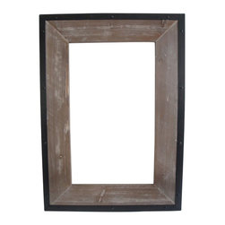 4 INDUSTRIAL MIRROR - Reflect the appeal of your industrial home in this mirror. Weathered wood rimmed in sturdy black metal provides the perfect frame for a reflection of a fashionable home. Hang it in your entryway for maximum visual effect.