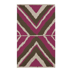 Surya - Surya Alameda Hand Woven Purple Wool Rug, 8' x 11' - Enjoy this Surya rug in your home. Imported.Material: 100% WoolCare Instructions: Blot Stains