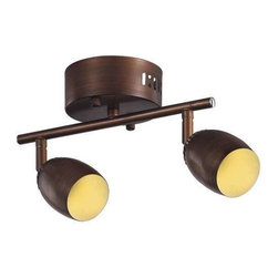 Trans Globe Lighting - Trans Globe Lighting W-812 ROB Track Light In Rubbed Oil Bronze - Part Number: W-812 ROB