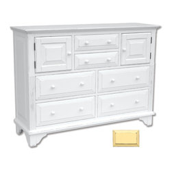 Tradewinds - Simple Cottage Chest of Drawers, Yellow - Innumerable features and number of drawers with an aesthetic appeal , its presence in your interior will drop jaws to the ground of your onlookers and give them an idea of your decorating sense. Available in three designs, open hutch, bookcase and mirror with different color options available, this one is a top-notch decor. A large table top with four drawers at the bottom, two small drawers in the middle and two gate like small drawers towards its sides this chest is exceptionally spacious. Durability is ensured as it is made from plantation grown and kiln-dried mahogany and mindi as well as premium hardwood veneers.