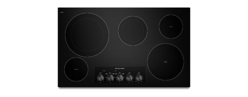 "KitchenAid - KECC664BBL 36"" Smoothtop Electric Cooktop With 5 Radiant Elements  Double-Ring E - This 36-inch electric cooktop features Even-Heat Technology on two elements A 3200-watt 10-inch element features a range of simmer settings and a 1300-watt 6-inch element features a range of melt settings Plus the versatility of two double-ring eleme..."