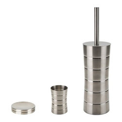 Gedy - 3 Piece Free Standing Stainless Steel Accessory Set - .