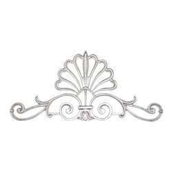 Galaxy-Design - French Shell Crown, Platinum Silver, No Crystal - . All French Shell Crowns come with mounting brackets and a hook for hanging scarf swags / valances