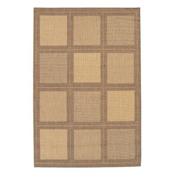 "Couristan - Area Rug: Recife Summit Natural Cocoa 7' 6"" x 10' 9"" - Shop for Flooring at The Home Depot. Distinctively designed to complement the simple yet classic styling of outdoor furniture, uniquely colored to make stone entryways and patio decks warmer and more inviting, Couristan is proud to expand its popular indoor/outdoor area rug collection, Recife. Power-loomed of 100% fiber-enhanced Courtron polypropylene, this all-weather, pet-friendly, mold and mildew resistant area rug collection features a durable structured, flat woven construction, which allows it to be suitable for indoor and outdoor use. The naturally inspired color palette offered in this versatile collection features a series of unique combinations of natural hues that have been selected to complement today's hottest outdoor home furnishings."