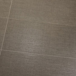 "Flooring - ANN SACKS Texere 11-5/8"" x 23-3/8"" porcelain field in pewter (photographer: Roland Bishop Photography)"