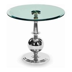 "AICO Furniture - ""Michael Amini"" Discoveries Accent Table with Clear Glass Top - Features:"