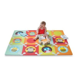 Skip Hop - SKIP*HOP Floor Mat with Foam Tiles in Zoo - This innovative soft floor mat will keep your child comfortable and happy. The perfect play surface, it's an ideal addition to the playroom or nursery.