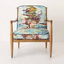 Calandria Armchair, Longshore - What a statement piece this would be! I love the clean and simple lines paired with the Monet-inspired watery dreamscape.