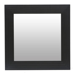 Bryght - Strip Framed Square Mirror - The Strip boasts a visually widening slim groove sleek design with modern undertones. Beautiful wood construction in an ebony stain makes for a pleasing and aesthetically designed accent piece that adds depth and texture to any room.