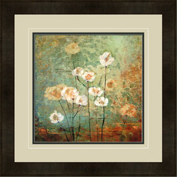 """Mantle Art Company - """"Textures IV"""" modern framed art - Beautiful modern art custom framed by designers to bring out the best in this piece of art. Made in the USA"""
