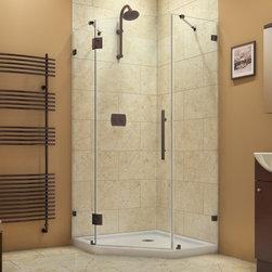 DreamLine - DreamLine SHEN-2240400-06 PrismLux Shower Enclosure - DreamLine PrismLux 40-3/8 in. W x 40-3/8 in. D x 72 in. H Hinged Shower Enclosure, Oil Rubbed Bronze Finish Hardware