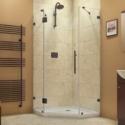 DreamLine - DreamLine SHEN-2240400-06 PrismLux Shower Enclosure - DreamLine PrismLux 40-3/8 in. W x 40-3/8 in. D x 72 in. H Hinged Shower Enclosure, Oil Rubbed Bronze Finish Hardware