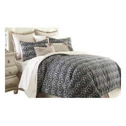 Sasha Geometric 8-piece Comforter Set King Black - Comforter sets aren't just for sleeping. They can also be regarded, like armoires and suits of armor, as a practical piece of art for the bedroom. This eight-piece set includes euro shams, decorative pillows, pillow shams, and a tailored bed skirt, not to mention an oversized, overfilled comforter wrapped in 100% polyester.