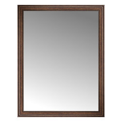 """Posters 2 Prints, LLC - 56"""" x 72"""" Arqadia Bronze Traditional Custom Framed Mirror - 56"""" x 72"""" Custom Framed Mirror made by Posters 2 Prints. Standard glass with unrivaled selection of crafted mirror frames.  Protected with category II safety backing to keep glass fragments together should the mirror be accidentally broken.  Safe arrival guaranteed.  Made in the United States of America"""