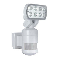 NightWatcher Security - Flood Lights. 60 ft. 220-Degree Outdoor White Motion-Tracking LED Security Light - Shop for Lighting & Fans at The Home Depot. Help keep your home safe and secure with the NightWatcher Security 60 ft. 220-Degree Outdoor White Motion-Tracking LED Security Light. This light has a 220-degree detection zone, and automatically follows motion across that zone once it has been detected. 8 Nichia Super Bright 1-watt LEDs provide energy-efficient area lighting.