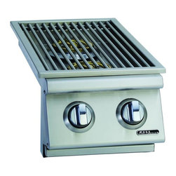 Bull - Slide-In Double Side Burner LP - The Double Sideburner is the perfect finish to any bbq grill or island setup.  This appliance gives you an extra two burners that are perfect for making sauces, veggies, noodles, rice, or anything that