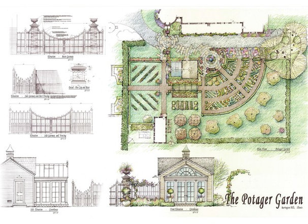 Traditional Site And Landscape Plan by The Brickman Group, Ltd.