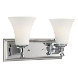 Progress Lighting - Progress Lighting P3132-15 2-Light Bathroom Lighting Fixture - Progress Lighting P3132-15 2-Light Bathroom Lighting Fixture with Opal Etched Glass Shades