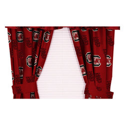 College Covers - NCAA South Carolina Curtains Long Collegiate Drapes - Features: