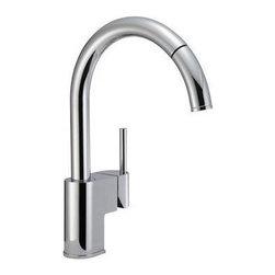 Danze - Danze Como Kitchen Faucet Pull Down Chrome Single Lever Handle One Hole D457144 - Danze Como Single Handle Kitchen Sink Faucet Polished Chrome