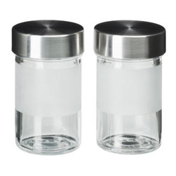 Droppar Spice Jar - Spice jar, frosted glass, stainless steel