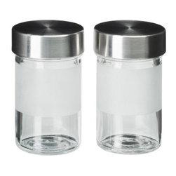 Droppar Spice Jar - Spice jar, frosted glass, stainless steel