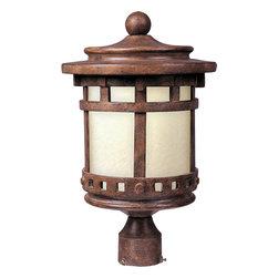 Maxim Lighting - Maxim Lighting 85037MOSE Santa Barbara EE 1-Light Outdoor Pole/Post Lantern - Maxim Lighting 85037MOSE Santa Barbara EE 1-Light Outdoor Pole/Post Lantern