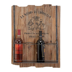 Casa Cortes - Casa Cortes Barware 4-bottle Rustic Wine Holder Rack - Mixing modern metal with rustic wood,this Casa Cortes Wine Holder brings new meaning to the art of entertaining. Designed for unparalleled functionality,this wine rack will be a great addition to your Barware decor.