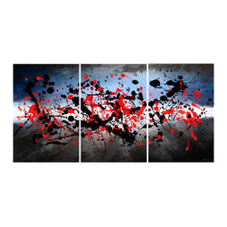 "Maxwell Dickson - Maxwell Dickson ""Beautiful Mind"" 3 Piece Canvas Art Set Abstract Modern - We use museum grade archival canvas and ink that is resistant to fading and scratches. All artwork is designed and manufactured at our studio in Downtown, Los Angeles and comes stretched on 1.5 inch stretcher bars. Archival quality canvas print will last over 150 years without fading. Canvas reproduction comes in different sizes. Gallery-wrapped style: the entire print is wrapped around 1.5 inch thick wooden frame. We use the highest quality pine wood available."