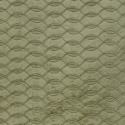 Brushed Velvet Lattice 1 Upholstery Fabric, Zinc - This brushed velvet is very dressy and has a decorative lattice design cut into the foreground. The fabric is suitable for elegant upholstery, cornice/headboards, and other decorative uses.This woven can be railroaded and has a reflective, almost metallic sheen.The fabric has a zinc color with the suggestion of a drop of olive green undertone, is available in limited quantities and is an exceptional buy.