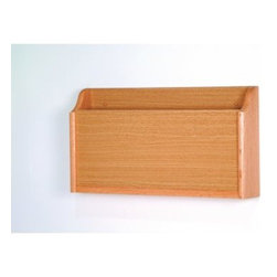 1-Pocket X-Ray Holder - Specifically designed for X-rays this 1-Pocket X-Ray Holder is a must-have item for doctors' offices. It has a solid oak frame and oak veneer front for added strength and durability. This holder is available in your choice of durable finishes to complement a variety of decors. It has a 20.5-inch-wide by 2.75-inch-deep pocket for ample storage capacity. It's predrilled and includes hardware for easy wall mounting. Hang this holder to keep X-rays at your fingertips.About Wooden MalletFor over 20 years Wooden Mallet has been turning Northern Red Oak into beautiful and functional American-made wood products for commercial and residential settings. Wooden Mallet manufactures and distributes various styles of magazine and brochure display racks chart holders luggage racks coat and hat racks and reception chairs and tables crafted from solid oak sides and components. In addition to a technological manufacturing process Wooden Mallet also employs a unique finishing process using ultraviolet light to cure the finish into the wood for a more durable lasting finish. This process meets the emission standards set by the Environment Protection Agency. For the past 10 years Wooden Mallet has ranked consistently in the top 100 of the Wood & Wood Products Wood 100 Annual Report for Solid Wood and Panel Technology.