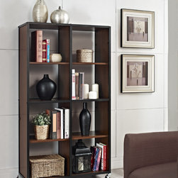Altra - Mason Ridge Mobile Bookcase and Room Divider - Part bookcase,part room divider. This smartly designed wheeled bookcase has four casters at the base for easy mobility throughout your home,office,business or other workspace. The bookcase features a metal frame with a dark cherry finish.