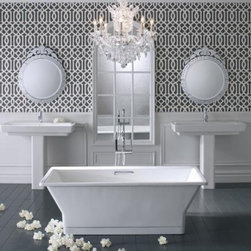"Kohler - Kohler K-819-F62-0 White Reve 67"" x 31.5"" Freestanding Soaking Tub - Tub Features:Kohler s cast iron components carry a limited lifetime warrantyTub is constructed from Enameled Cast Iron combining strength with durabilityRelax in a bath crafted with strong geometric lines designed for ease of useInstalls in a Free Standing configurationTub comes standard with molded lumbar support, furthering the user s comfortA textured slip-resistant bottom takes the worry out of slipping and sliding as you move about the tubTub is equipped with an overflow assembly - permitting the user to enjoy a deep soak without worrying about spillageProduct Meets or Exceeds the Following Codes and Standards: ASMEPair this bath with other products from the Reve Collection for a coordinated elegant look in the bathroomProduct Technologies and Benefits:Enameled Cast-Iron Material - Kohler Enameled Cast-Iron combines the strength, durability, and insulation benefits of cast-iron with the scratch, chip, and burn resistance of a baked, powder coat finish and comes with an exceptional Lifetime Limited Warranty. These materials combined give the sink or tub the strength to last a lifetime of use. Another benefit is that Kohler Enameled Cast-Iron is available in a wide variety of specialty colors to truly customize your home.Tub Specifications:Overall Height: 22-1/16"" (measured from the top of tub rim to the bottom of basin)Overall Width: 31-1/2"" (measured from back most to front most point on outer rim)Overall Length: 66-15/16"" (measured from left most to right most point on outer rim)Basin Width (Bottom): 22"" (back to front measurement of the bottom of basin walls)Basin Length (Bottom): 49"" (right to left measurement of the bottom of basin walls)Basin Width (Top): 24-3/4"" (back to front measurement of the top of basin w"