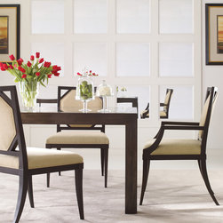 The Mannerist Collection - Parsons Dining Table - WD7/96RE IP, Westbury Side Chair - H3821S, Westbury Arm Chair H3821A