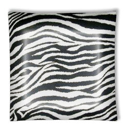 "Black and White Zebra Ceiling Light - 12"" square semi flushmount ceiling lamp with designer finish. Includes complete installation instructions and complete light fixture. Wipes clean with a damp cloth. Uses 2-60 watt bulbs (not included) and is made with eco-friendly/non-toxic products. This is not a licensed product, but is made with fully licensed products."