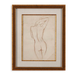 Bassett Mirror - Bassett Mirror Framed Under Glass Art, Antique Figure Study I - Antique Figure Study I