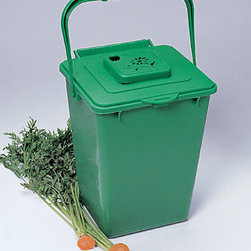 Kitchen Compost Pail, Composting - Composting is such a great idea because organic fertilizer is better than anything you can buy for your garden.  But there's always the worry about odors.  This compost pail is designed to knock out those odors so you can compost worry free!