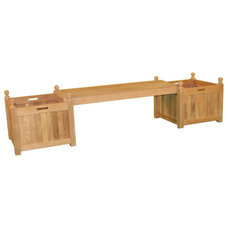 Traditional Outdoor Benches by teakboutique.ca