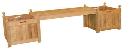 Traditional Outdoor Stools And Benches by teakboutique.ca
