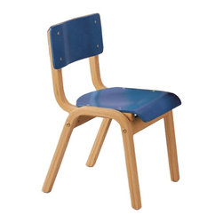KFI Seating - 12 in. High Seat Wood Stack Kids Chair - Set - Color: RedSet of 6 wood stack chair. Contoured back and waterfall seat for comfort. Front and rear leg supports add stability. Non-marring floor glides . Solid, durable beechwood construction. Stacks 8 high. Seat width: 12 in.. Seat height from floor: 12 in. H. Total: 14 in. W x 14.25 in. D x 21.25 in. H