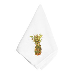 Caroline's Treasures - Pineapple Napkin - Dinner Napkin - 100% polyester - wash, dry and lay flat.  No ironing needed.  20 inch by 20 inch
