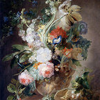 Vase with Flowers | Huysum | Canvas Print - Condition: Canvas Print - Unframed