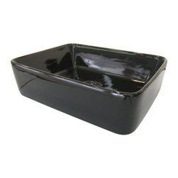 Kingston Brass - French Black China Vessel Bathroom Sink without Overflow Hole EV5102K - Simplicity best describes the look of this black china vessel sink. Its square shape and soft curves are compact but spacious enough to complement both the traditional and modern look. The body is thick and is used for a countertop installation made from fine vitreous china for durability and reliance.Manufacturer: Kingston BrassModel: EV5102KUPC: 663370091544Product Name: Black China Vessel Bathroom Sink without Overflow HoleCollection / Series: FrenchFinish: BlackTheme: ClassicMaterial: CeramicType: SinkFeatures: Finest vitreous china vessel with high chemical and thermal shock resistance