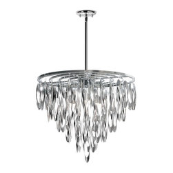 Dainolite - Dainolite Allegro ALL-208C-PC Chandelier Multicolor - ALL-208C-PC - Shop for Chandeliers from Hayneedle.com! Shimmering brilliance for the dining room or foyer the Dainolite Allegro ALL-208C-PC Chandelier features dangling open ovals in a gleaming polished chrome finish. This chandelier requires eight 40-watt bulbs not included. About DainoliteDainolite is a leader in creating contemporary lighting options for the home and office. Dainolite was founded in 1987 and is based in Mississauga Ontario. They have a wide range of lighting products and take pride in offering innovative designs for today's lighting market. Dainolite also makes custom lamp shades under its trusted Micheline brand name. They offer a lighting solution for every room in the home and office. From floor lamps to chandeliers Dainolite has you covered.