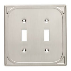 Liberty Hardware - Liberty Hardware 144406 Cambray WP Collection 5.06 Inch Switch Plate - Satin Nic - A simple change can make a huge impact on the look and feel of any room. Change out your old wall plates and give any room a brand new feel. Experience the look of a quality Liberty Hardware wall plate.. Width - 5.06 Inch,Height - 4.98 Inch,Projection - 0.19 Inch,Finish - Satin Nickel,Weight - 0.3 Lbs