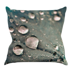 "Kess InHouse - Iris Lehnhardt ""Water Droplets Grey"" Dark Throw Pillow (18"" x 18"") - Rest among the art you love. Transform your hang out room into a hip gallery, that's also comfortable. With this pillow you can create an environment that reflects your unique style. It's amazing what a throw pillow can do to complete a room. (Kess InHouse is not responsible for pillow fighting that may occur as the result of creative stimulation)."