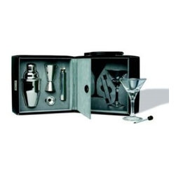Franmara - Black Exterior and Blue Interior Design Martini Bar Set with Case - This gorgeous Black Exterior and Blue Interior Design Martini Bar Set with Case has the finest details and highest quality you will find anywhere! Black Exterior and Blue Interior Design Martini Bar Set with Case is truly remarkable.